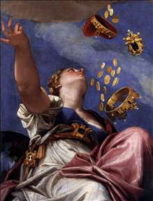 Juno Showering Gifts on Venetia (detail)