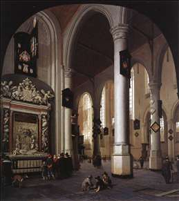 The Old Church at Delft with the Tomb of Admiral Tromp