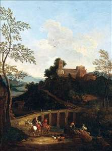 Roman Landscape near to a Bridge
