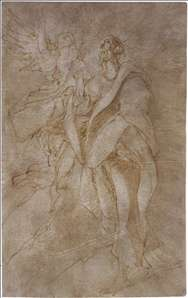Study for St John the Evangelist and an Angel
