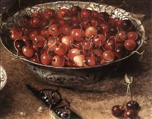 Still-Life with Cherries and Strawberries in China Bowls