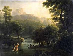 Landscape with Figures Crossing a River