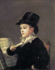 Portrait of Mariano Goya, the Artist's Grandson