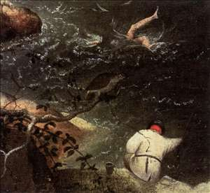 Landscape with the Fall of Icarus (detail)