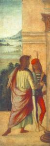 Two Young Man at a Column (detail)