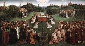 The Ghent Altarpiece: Adoration of the Lamb
