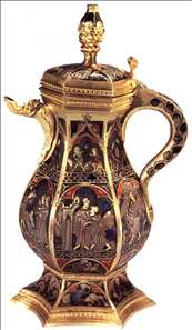 Ewer with scenes