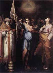 St Ursula and Her Companions with Pope Ciriacus and St Catherine of Alexandria