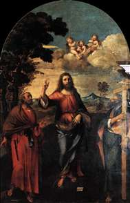 Christ between Sts Peter and Andrew