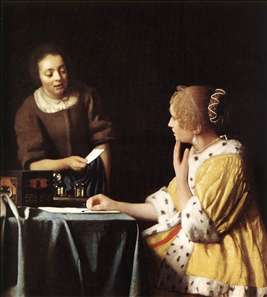 Lady with Her Maidservant Holding a Letter