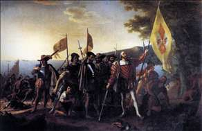 Columbus Landing at Guanahani, 1492
