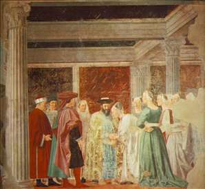 Meeting of Solomon and the Queen of Sheba (right view)