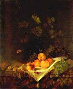 Still-life with Peaches and Grapes