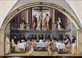 St Dominic and his Friars Fed by Angels