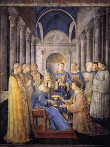 St Peter Consacrates St Lawrence as Deacon