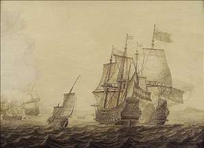 Action between Dutch and English Ships