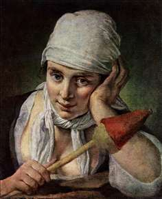 Young Girl with Distaff