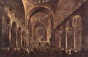 Doge Alvise IV Mocenigo Appears to the People in St Mark's Basilica in 1763