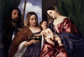 Madonna and Child with Sts Dorothy and George