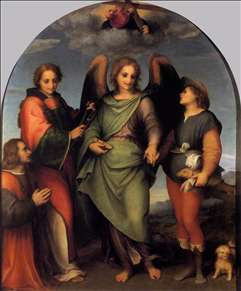 Tobias and the Angel with St Leonard and Donor