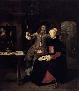 Portrait of the Artist with His Wife Isabella de Wolff in a Tavern
