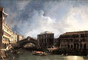 The Grand Canal near the Ponte di Rialto