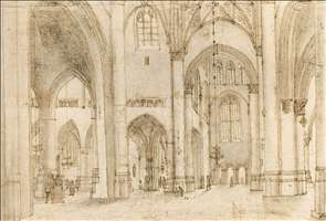 Interior of St Bavo's Church in Haarlem