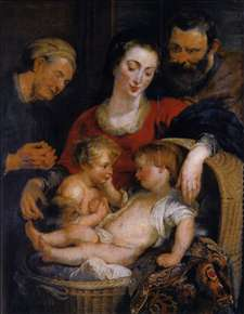 The Holy Family with St Elizabeth
