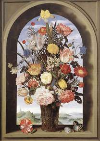 Bouquet in an Arched Window