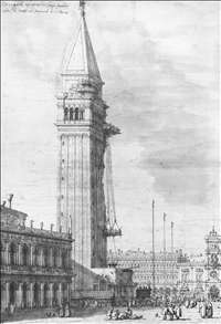 The Piazzetta: Looking North, the Campanile under Repair