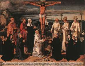 Christ on the Cross with Carthusian Saints