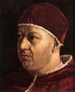 Pope Leo X with Cardinals Giulio de' Medici and Luigi de' Rossi