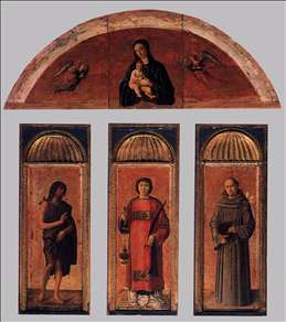 Triptych of St Lawrence