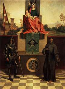 Madonna and Child Enthroned between St Francis and St Liberalis