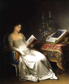 Lady Reading in an Interior