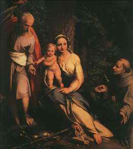 The Rest on the Flight to Egypt with Saint Francis