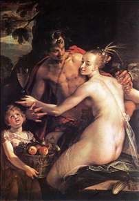Bacchus, Ceres and Cupid