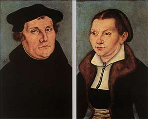 Portraits of Martin Luther and Catherine Bore