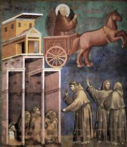 Legend of St Francis: 8. Vision of the Flaming Chariot