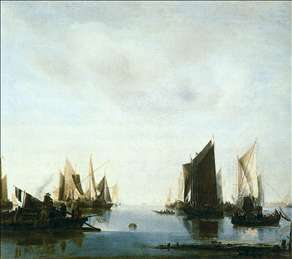 Seascape with Sailing Boats