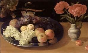 Still-Life of Grapes, Plums and Apples