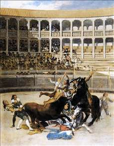 Picador Caught by the Bull