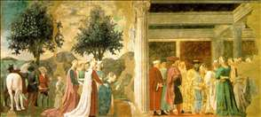 Adoration of the Holy Wood and the Meeting of Solomon and the Queen of Sheba